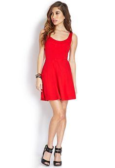 Striking Fit & Flare Dress | FOREVER21 - 2000126889