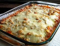 Chicken Parmesan casserole - makes 8 1 cup servings. 9 WW points.
