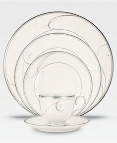 Noritake Dinnerware, Platinum Wave Collection - Fine China - Dining & Entertaining - Macy's