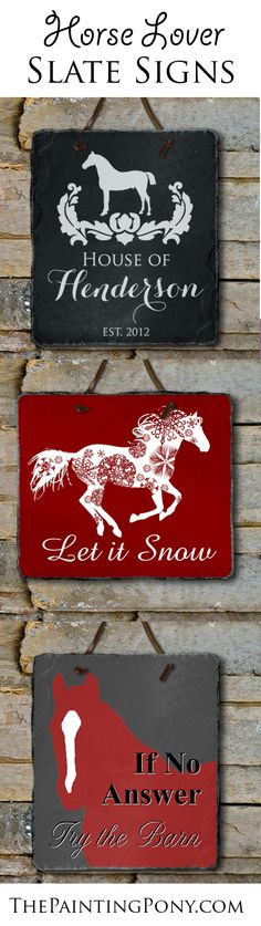 Slate wall decor signs for the horse lover - equestrian home decor perfect for anyone who loves horses, ponies, and the sport of horseback riding. #equestrian #Horse