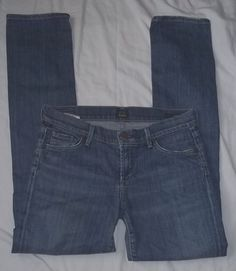 """Citizens of Humanity  """"AVA"""" Womens Low Rise Straight Leg Blue Jeans Size: 27 #CitizensofHumanity #StraightLeg"""