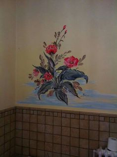 Parete dipinta interno bagno