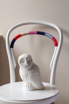 Owl on the chair Pinned by www.myowlbarn.com