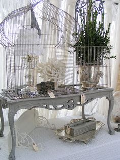 Amazing Vingage Cage...love the planter.