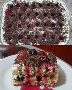Greek Desserts, Greek Recipes, Desert Recipes, Desert Bar, Black Forest, Confectionery, No Bake Cake, Cake Pops, Deserts