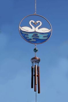 Swan wind chime