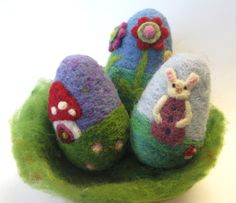 Needle Felted Easter Egg - Waldorf Inspired Spring Nature Scene http://www.etsy.com/listing/72114177/needle-felted-easter-egg-waldorf