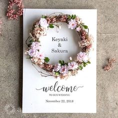Best 12 This would look nice framed. Wedding Welcome Board, Welcome Boards, Handmade Wedding, Diy Wedding, Wedding Flowers, Flower Frame, Ceremony Decorations, Baby Decor, Dried Flowers