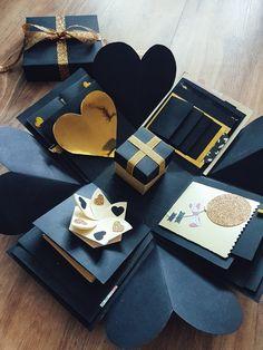 Exploding box 😍 Black & gold