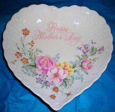 Happy Mothers Day Heart Shaped bone china dish by Mikasa