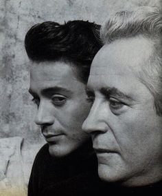 """Robert Downey Sr. & Jr. ~ Although Robert Downey Jr. is more famous than his father (the underground filmmaker best known for 1969's""""Putney Swope""""), the """"Avengers"""" & """"Iron Man"""" star grappled for yrs w/ his dad's legacy.  
