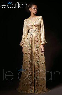 Caftan Beige Doré 2014 Elégant & Magnifique Design ~ LE CAFTAN : Boutique de vente caftan marocain