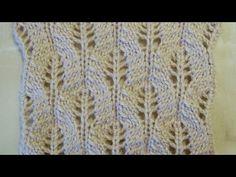Ажурный узор Колоски Вязание спицами Видеоуроки - YouTube