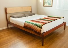 Danish Mid Century Modern Bed by PeteDeebleFurniture on Etsy, $1900.00