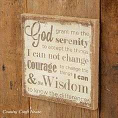 Serenity Prayer Wall Art serenity prayer canvas wall art | for the home | pinterest