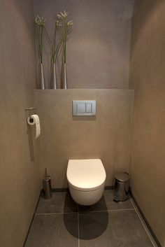 Gorgeous Tadelakt Bathroom Design Ideas For Unique Bathroom Guest Toilet, Small Toilet, Downstairs Toilet, Toilet Closet, Toilet Room, Bathroom Interior, Modern Bathroom, Small Bathroom, Steam Showers Bathroom