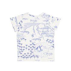 Mini Rodini Croco Map Print Shortsleeve Tee