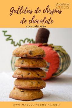Todos amamos las galletas de chispas de chocolate... pero si adicionas un poco de puré de calabaza, se vuelven super deliciosas!