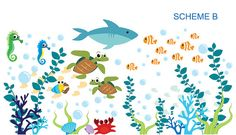 Aquarium Wall Decal Under The Sea Oceanic by WallDecalSource