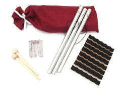 Included:  -23 Pipe chimes cut to length (A thru G - slightly less than two octaves)