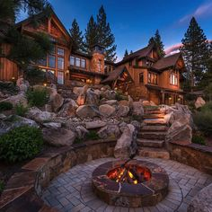 The Best Aspects of Log Cabin Kits - Modern Survival Living Mountain Home Exterior, Mountain House Plans, Mountain Homes, Dream House Exterior, Log Cabin Exterior, Cabin In The Woods, Cabins In The Mountains, Rustic Home Design, Log Cabin Homes