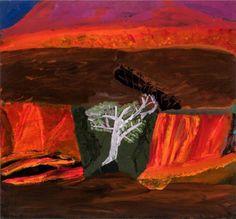 "popgoesred: ""Idris Murphy Helicopter Flight, Mornington, acrylic & mixed media on board, "" Pastel Landscape, Landscape Art, Landscape Paintings, Australian Painters, Australian Artists, Brain Art, Art Corner, Figure Painting, Modern Art"