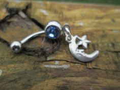 belly jewlery moon and star belly button rings