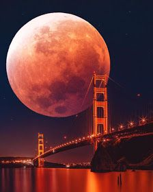 Blood Moon Art Print by TedsLittleDream - X-Small Moon Images, Moon Photos, Moon Pictures, Nature Pictures, Beautiful Nature Wallpaper, Beautiful Moon, Beautiful Landscapes, Shoot The Moon, Moon Photography