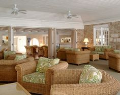 The lobby area of Island Inn - warm and inviting