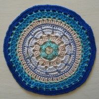 Crochet Mandala Wheel made by Ulla, Germany, for yarndale.co.uk
