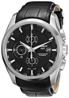 Tissot Men's T0356271605100 T-Trend Couturier Black Chronograph Dial Watch