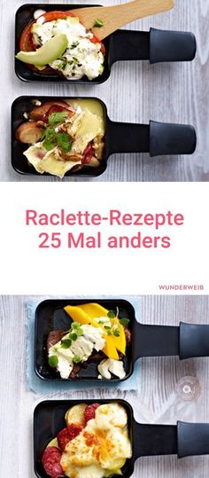 We show you 25 different raclette recipes that are just delicious. We show you 25 different raclette recipes that are just delicious. Breakfast Recipes, Snack Recipes, Dinner Recipes, Drink Recipes, Raclette Party, Pizza Raclette, Raclette Fondue, Healthy Snacks, Healthy Recipes