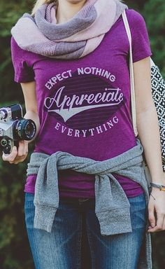 Make a statement & a difference with this shirt. For 1 purchase, 1 child in Guatemala will be fed. Do you shop generously? http://www.sevenly.org/womens/clothing/appreciate-everything-v-neck?cid=InflPinterest0005Joanna