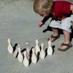 Wooden Toy Bowling.
