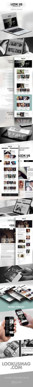 Responsive Website Design for Look Us Magazine.