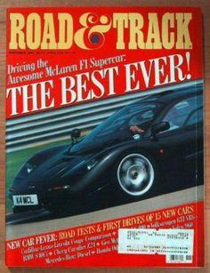 Ivanhoe162 on Ecrater-The Great Ebay Alternative: ROAD & TRACK 1994 NOVEMBER - McLAREN F1, 250TR, GT...
