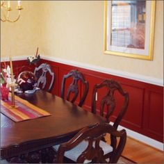 Perfect Dining Room Paint Ideas With Chair Rail