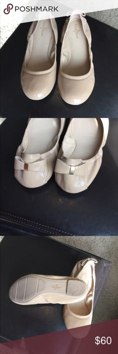 Cole Haan Bow Ballet Flats Size 8 Cole Haan Bow Ballet Flats Size 8. Used a couple times. Great condition. Checkout the other colors I'm selling. Cole Haan Shoes Flats & Loafers