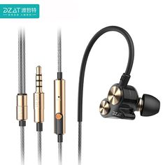 30.00$  Watch here - http://alisgk.shopchina.info/go.php?t=32806783800 - DZAT DT-05 Earphone 3.5mm Wired In-ear Earbuds Sports Earphones Double Dynamic Auriculares Stereo Music HIFI Headsets For Phones 30.00$ #buymethat