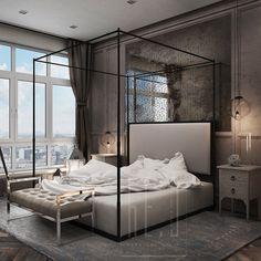 дизайн интерьера -классическая спальня-he.d