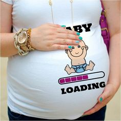 baby girl loading, baby announcement, pregnancy, pregnant mom, pregnant shirt, were pregnant, t-shirts, funny t-shirts, funny gift, for wife