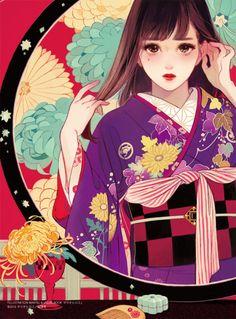 Hiromi matsuo illustration making & visual book 1 Art And Illustration, Illustrations And Posters, Watercolor Illustration, Manga Anime, Manga Art, Japanese Art Styles, Mode Shop, T Art, Pretty Art