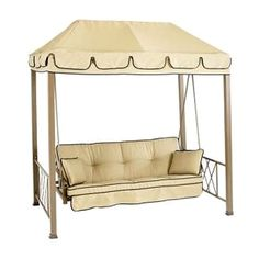 Home Depot Verrado Folian Gazebo Canopy  sc 1 st  Pinterest & Courtyard Creations RUS418A patio swing canopy and cushion ...
