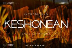 Keshonean is a clean and sans serif font. No matter the topic, this font will be an incredibly asset to... Sans Serif Fonts, All Fonts, Modern Fonts, Premium Fonts, Peace And Love, Lettering, Logo, Creative, Design