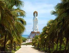 The Guanyin statue. The Nanshan Temple of Sanya, Hainan Island, China. https://victortravelblog.com/2014/08/14/hainan-island-in-china/