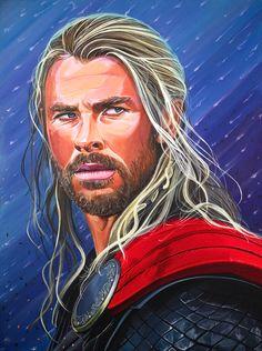 Chris Hemsworth as Thor https://fineartamerica.com/featured/thor-god-of-thunder-gary-destefano.html #thor #avengers #chrishemsworth #theavengers #ironman #captainamerica #thehulk #hulk #spiderman #chrisevans #robertdowneyjr #marvel #marvelcomics #popcultureimages #garydestefano #thorragnarok #thor3