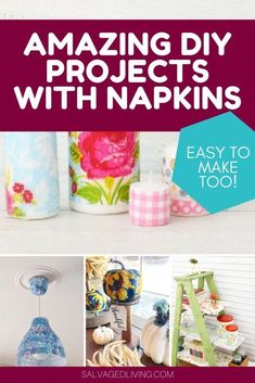 Amazing Transformations With Paper Napkins Easy Crafts For Kids, Easy Diy Crafts, Diy Craft Projects, Creative Crafts, Thrift Store Crafts, Thrift Stores, Decorative Light Switch Covers, Foam Pumpkins, Napkin Decoupage
