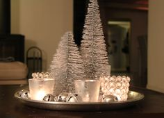 Silver. glitter and sparkle. How I love christmas...