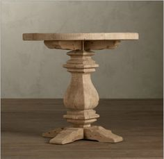 Restoration Hardware Look-Alikes: Save 566.00 vs Restoration Hardware Pedestal Salvaged Wood Side Table