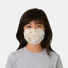 Burrito Blanket Flour Tortilla Taco Kids Face Mask - tap, personalize, buy right now! #afflink #kids #funny #face #masks Shape Of You, Pastel Blue, Ear Loop, Yellow Black, Sensitive Skin, Camouflage, Kids, Face Masks